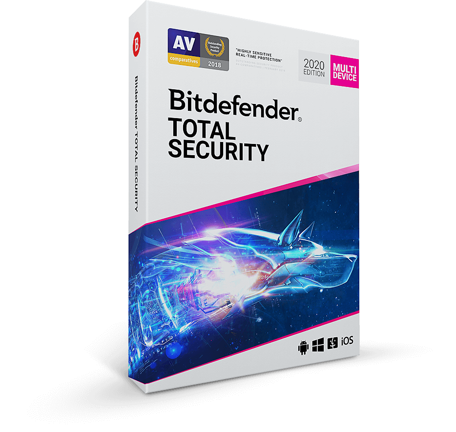 Bitdefender total security box 2019