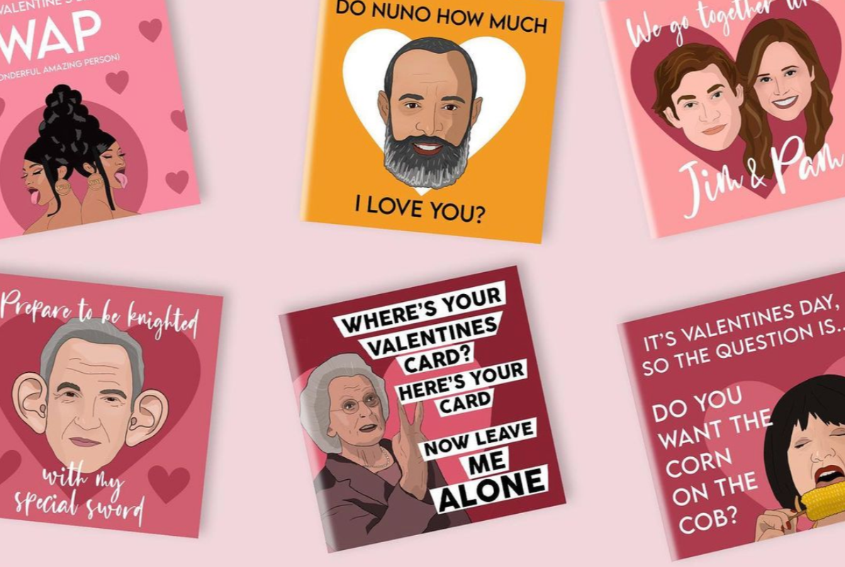 The Foxy Lemon Co Valentines cards
