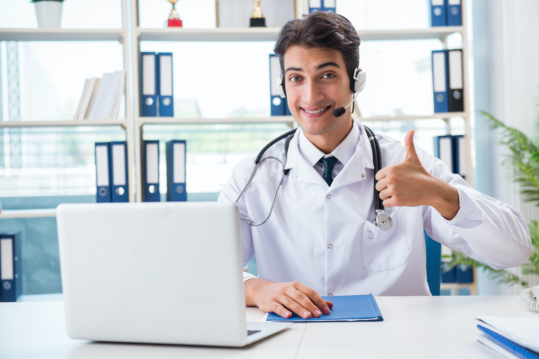 vet in Telehealth Concept