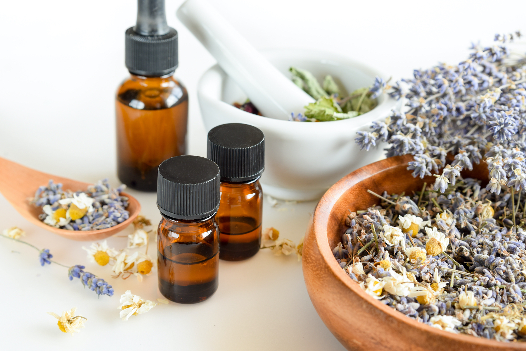 pawp essential oils with dried herbs