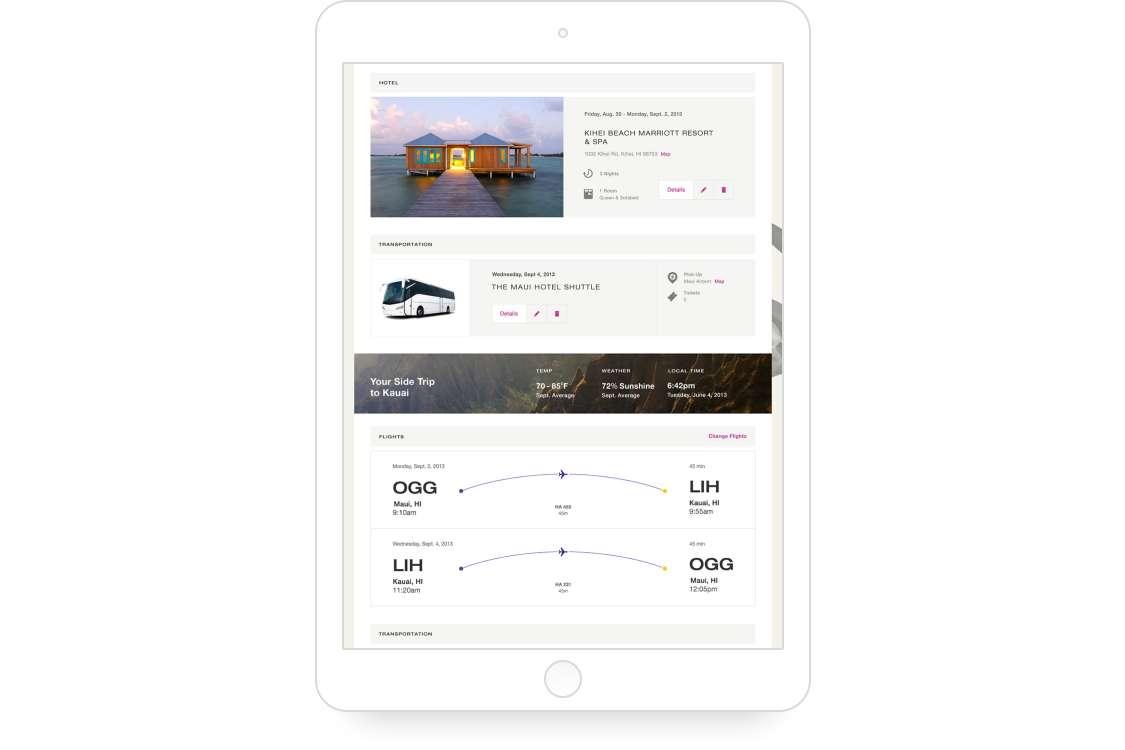 Itinerary App Screen 02
