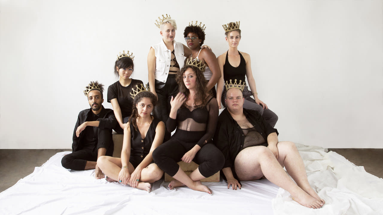 From Left to Right: Mooj Zadie, Jen Ng, Phoebe Unter, Nicole Kelly, Mo LaBorde, Dylan Gauche, Kaitlin Prest, Sharon Mashihi -- Photo by Sam Massey
