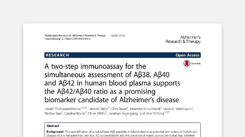 Measurement of plasma Aβ peptides by immunological assay can