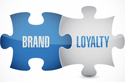 Puzzle piece showing brand loyalty