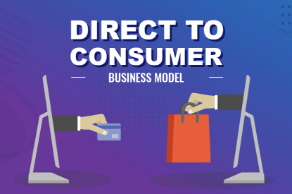 Visual representation showing how the direct to consumer business model works.
