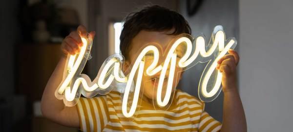 Happy Neon Sign Boy