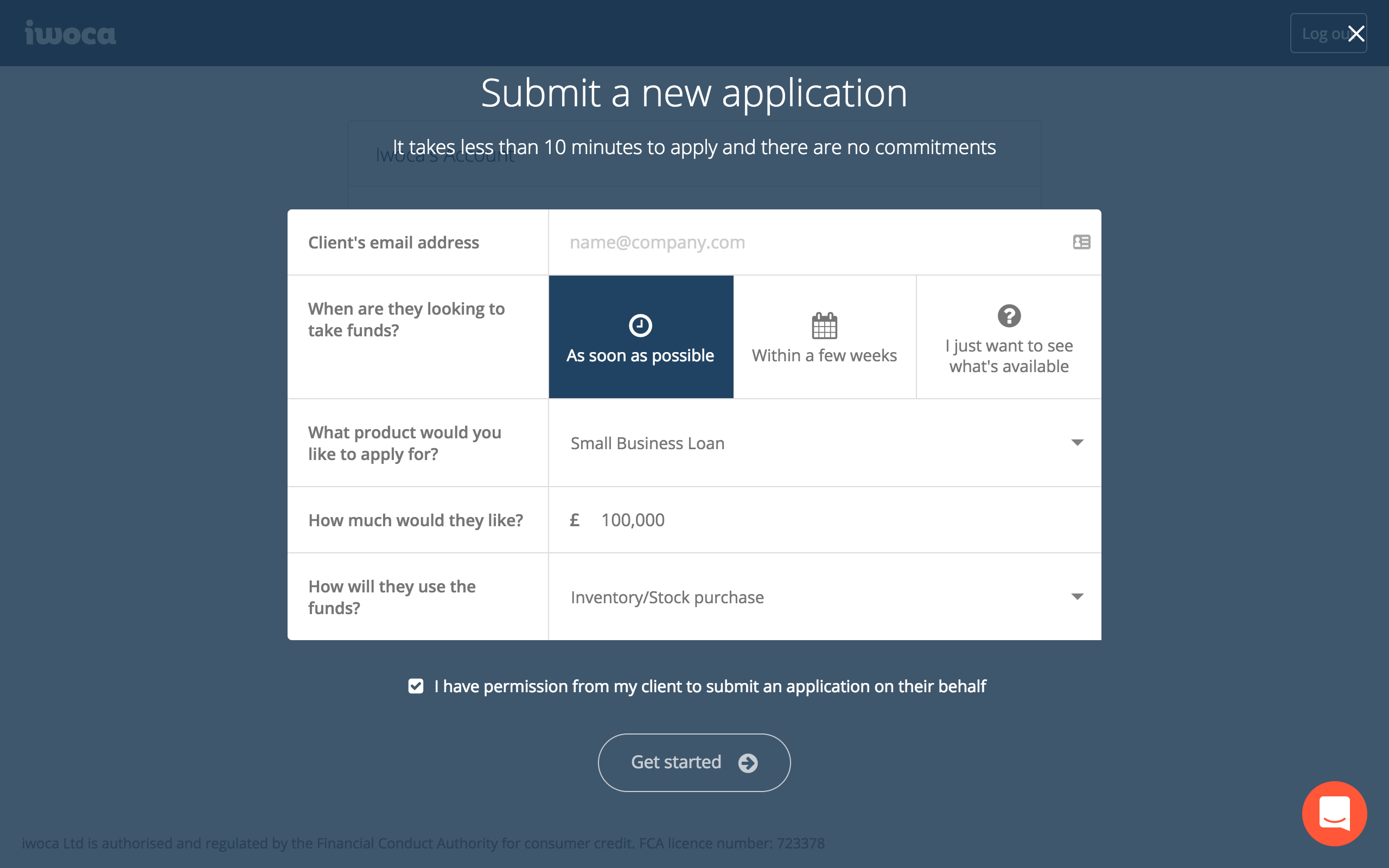 Submit applications in minutes
