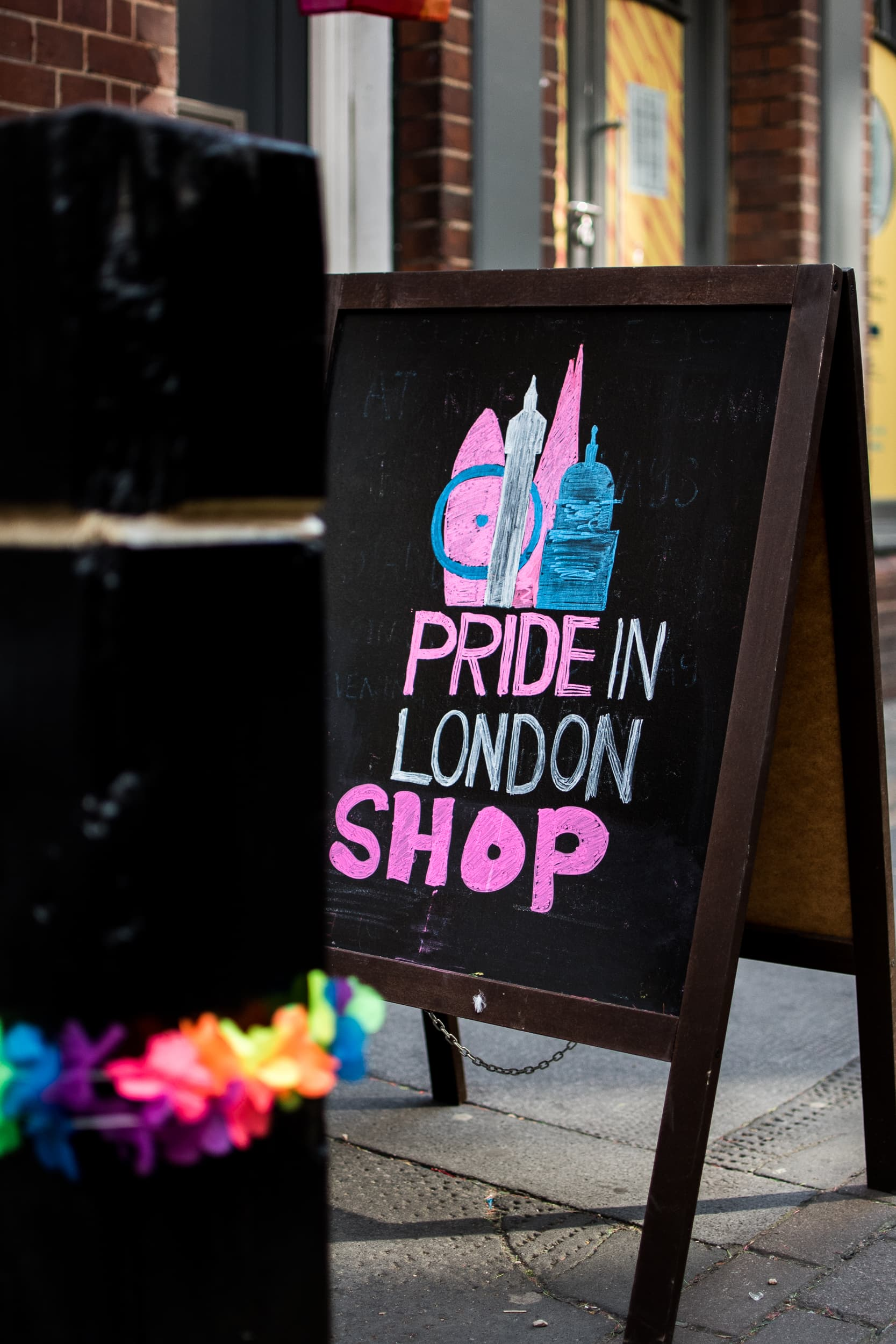 Pride in London sign