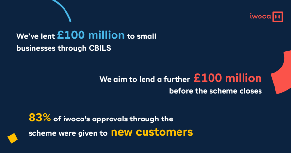 We aim to lend over £200 million to small businesses before CBILS applications close in January