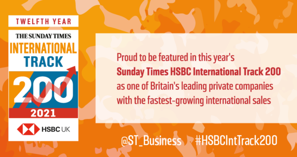 We're the top small business lender in the Sunday Times HSBC International Track 200!