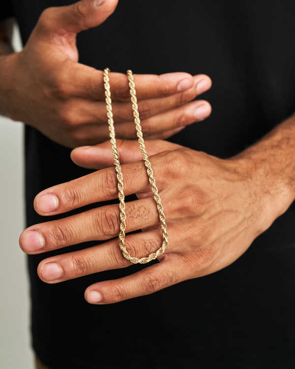 Italian Made - Rope Chain Gold Bonded