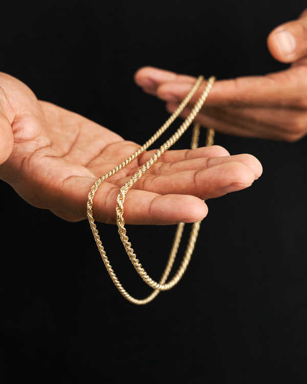 No Compromises - Rope Chain Gold Bonded