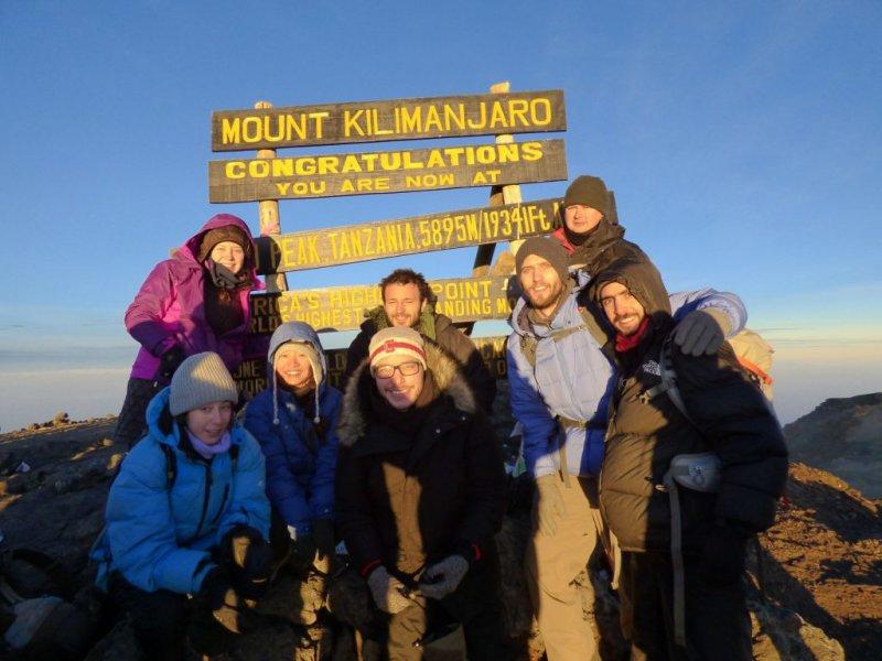 Summit of Kilimanjaro group photo