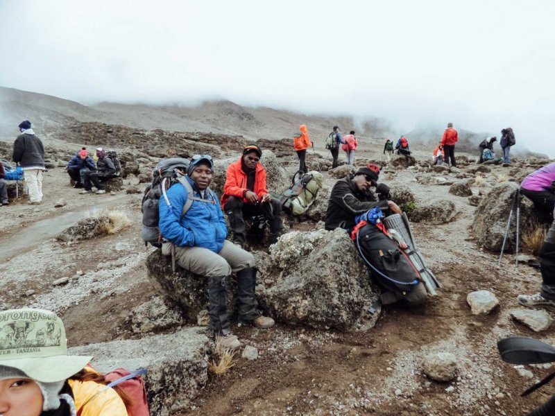 drinking rest Kilimanjaro
