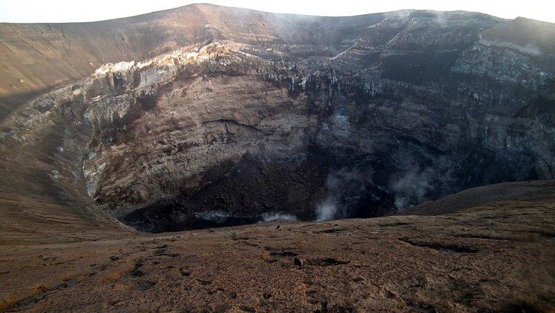 View into crater of Mt Ol Doinyo Lengai, Lake Natron, Tanzania