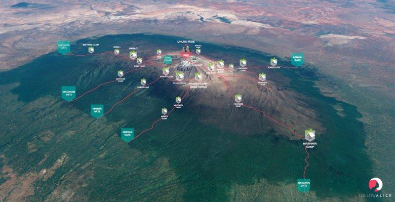 Kilimanjaro-routes-map-Follow-Alice