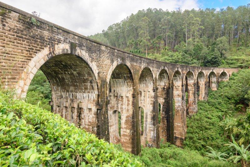 Nine Arch Bridge in Ella, Sri Lanka