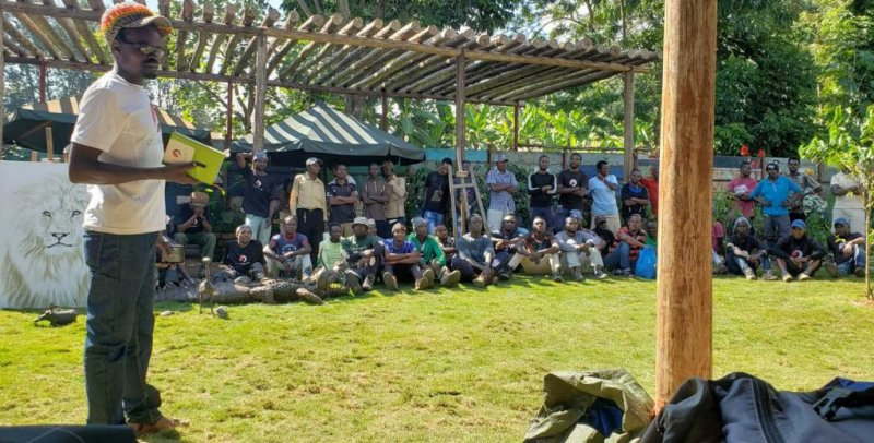 Kilimanjaro tipping ceremomny