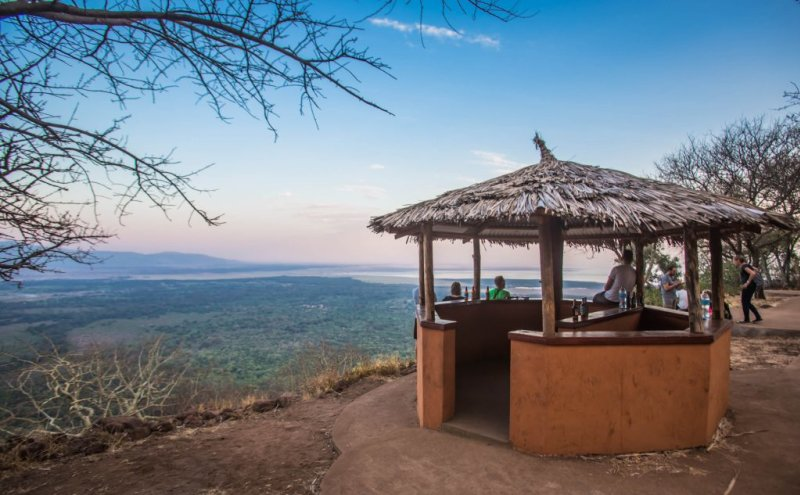 Drinks with a view in Tanzania