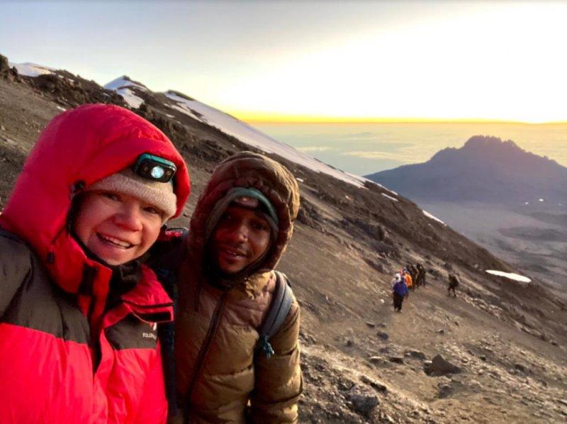 Selfie Kilimanjaro summit night