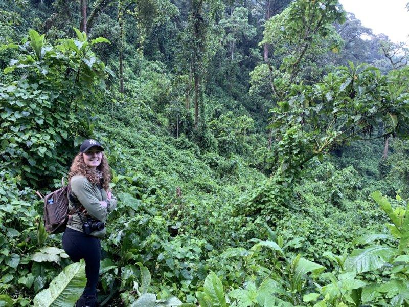 woman in Bwindi Forest Uganda