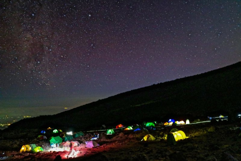 Kilimanjaro at night