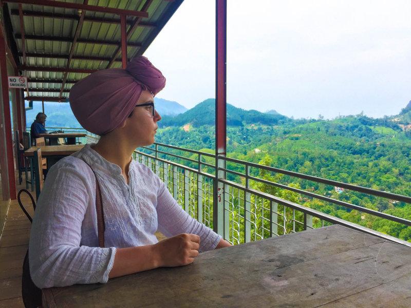 Overlooking the Uva Halpewaththa tea estate in Sri Lanka