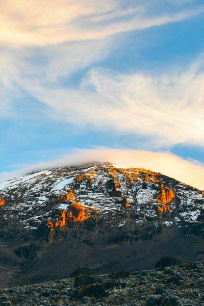 The epic peak of mount Kilimanjaro
