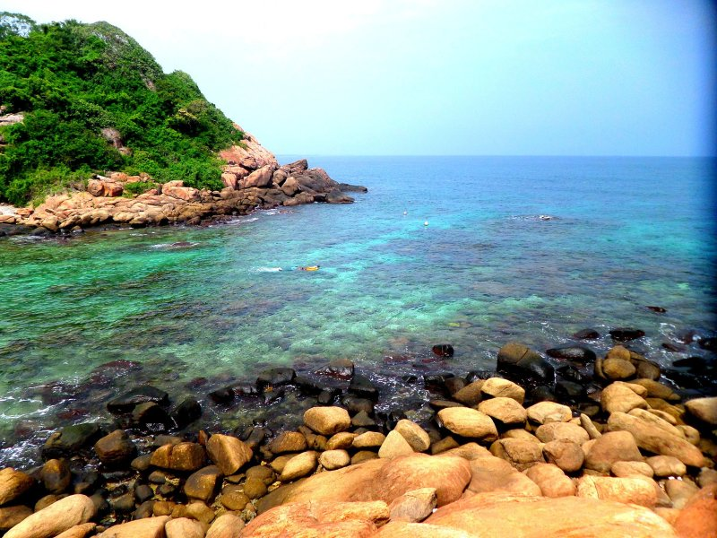 Snorkelling near Pigeon Island, Sri Lanka
