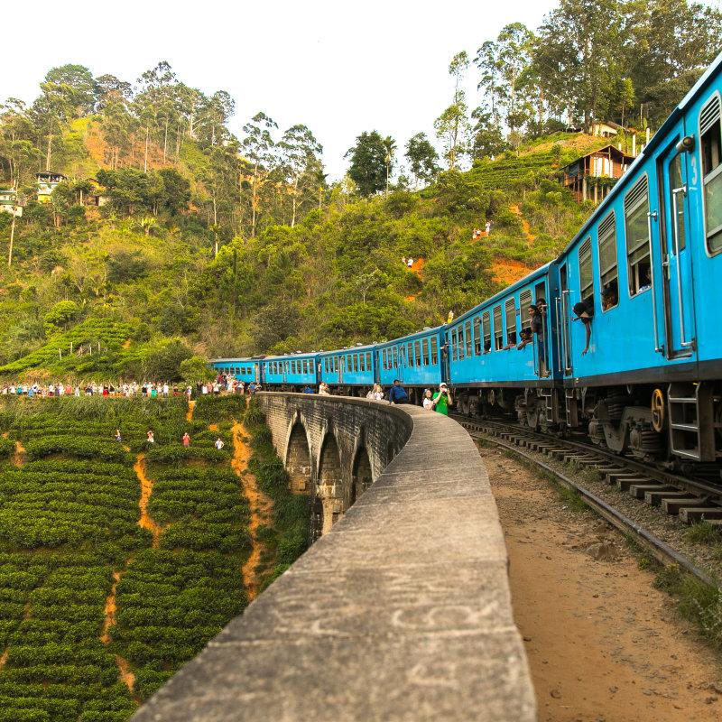 Blue train in Sri Lanka