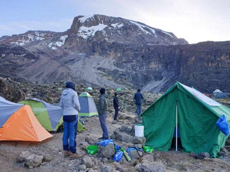 Campsite on Mt Kilimanjaro