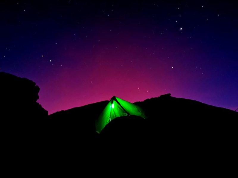 Nighttime tent Kilimanjaro