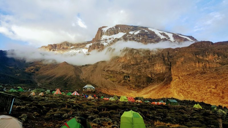 tented camp Kilimanjaro sleeping on Kilimanjaro