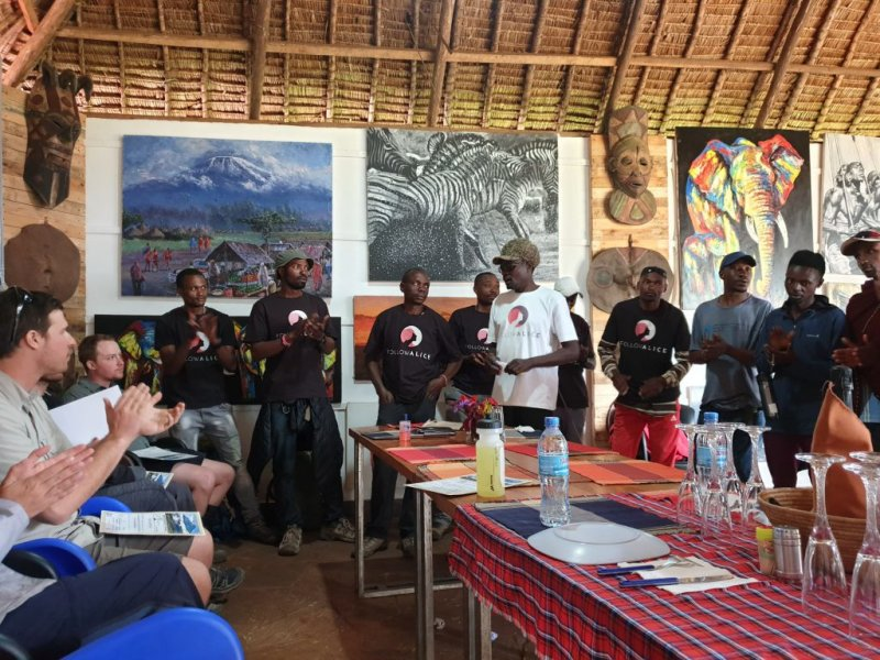 Chris and Kilimanjaro mountain crew