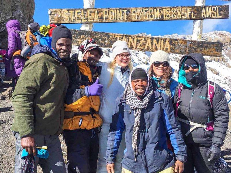 Stella Point on Kilimanjaro - adventure trip 2020 idea