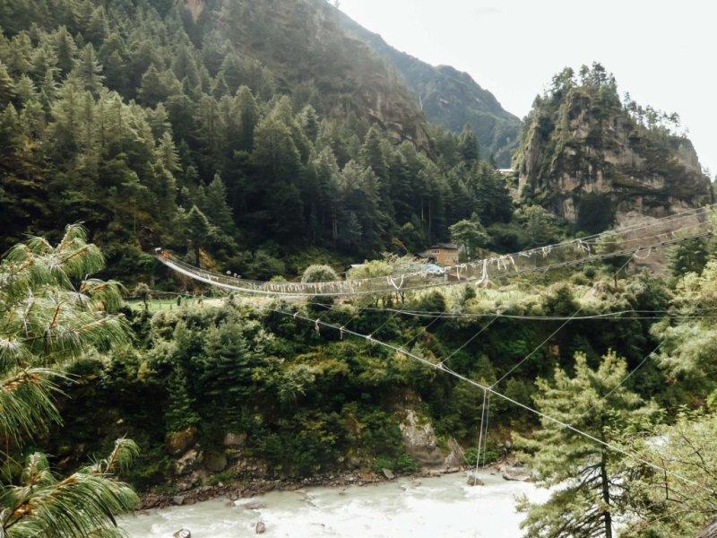 Suspension bridge Everest Base Camp trek adventure