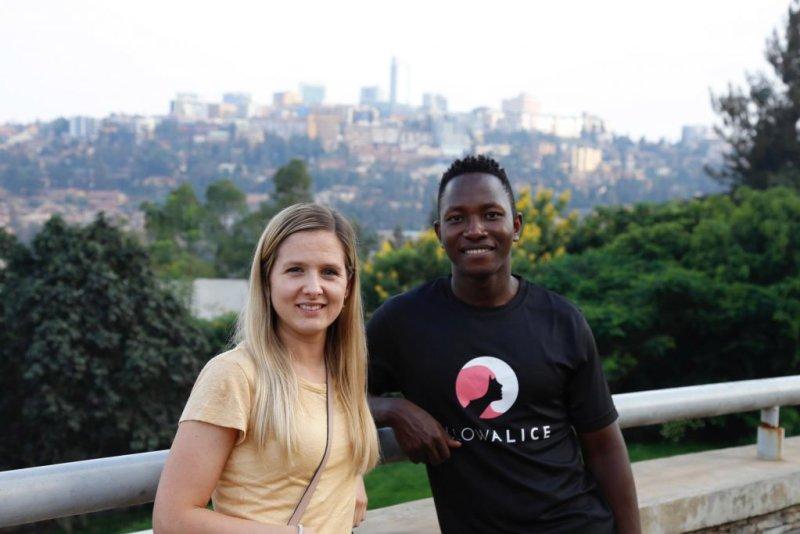 Dan and guest in Kampala
