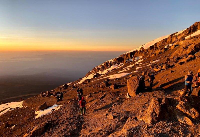 Summit night trek sunrise Kilimanjaro