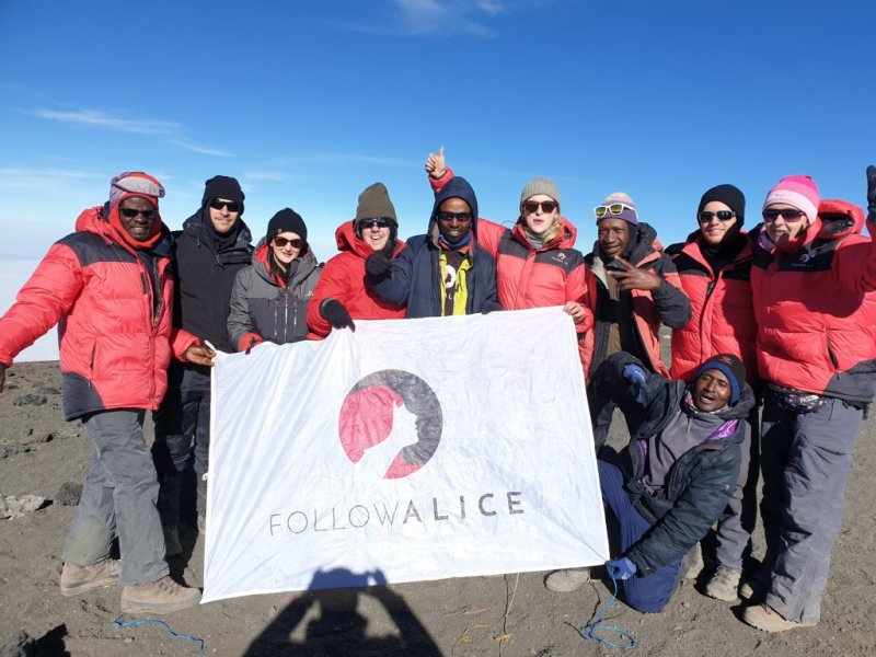 team summit Kilimanjaro Follow Alice banner