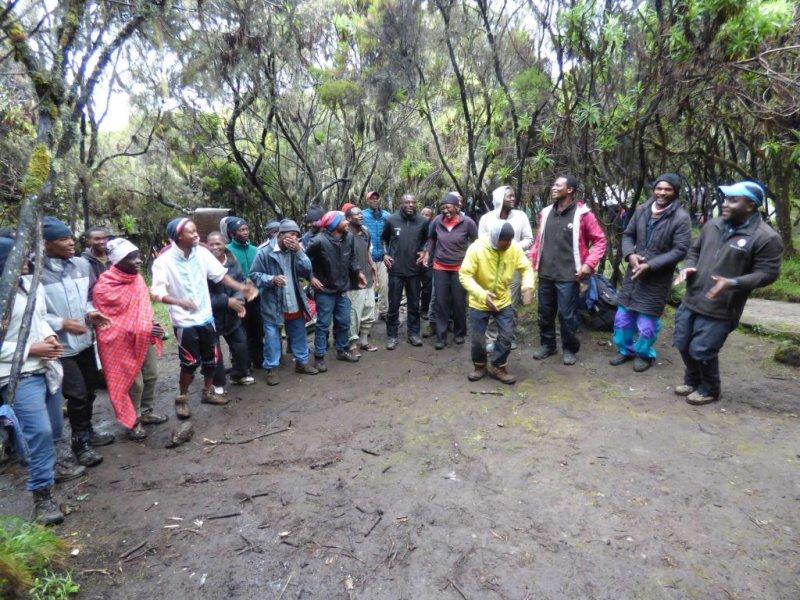 Tipping ceremony at Kilimanjaro