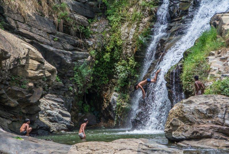Go swimming in the waterfalls of Ella
