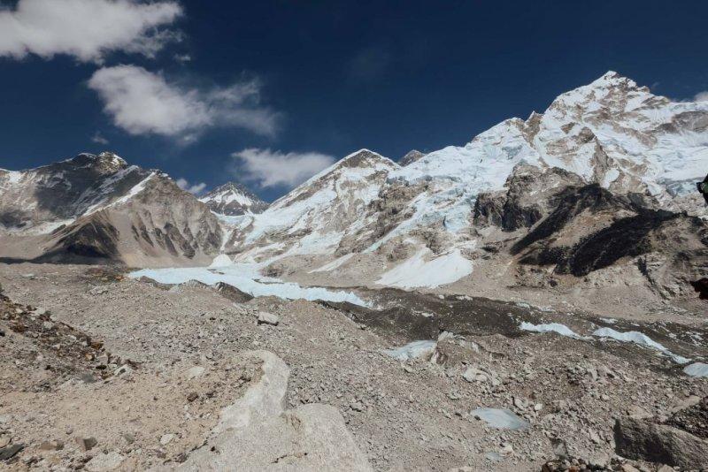 High altitude of the Annapurna mountains