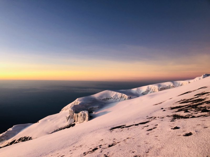 sunrise summit night Kilimanjaro