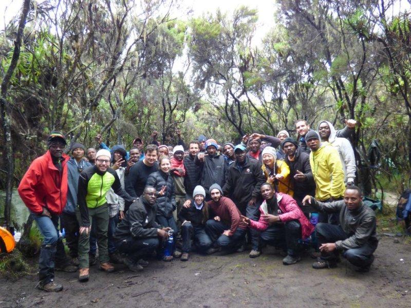 Group photo Kilimanjaro trek. adventure trip of a lifetime