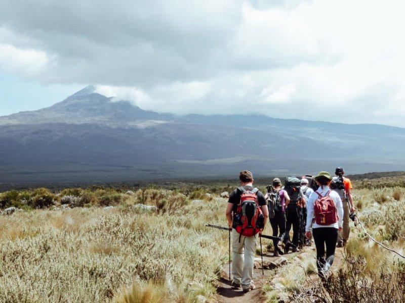 Open view on Kilimanjaro climb