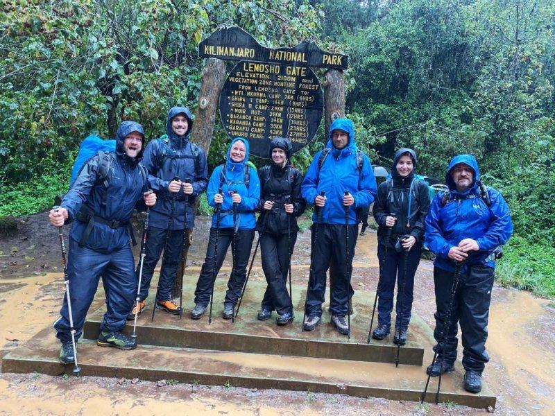 Group Photo Lemosho Gate Kilimanjaro