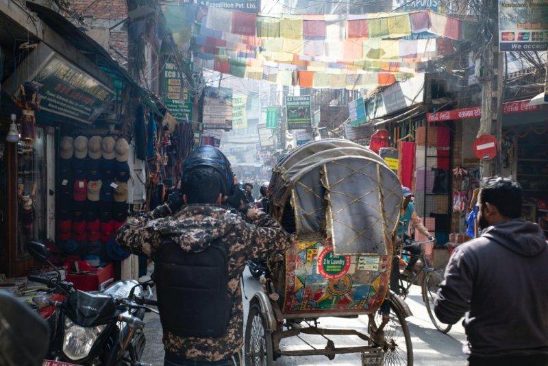 Thamel street scene, Nepal