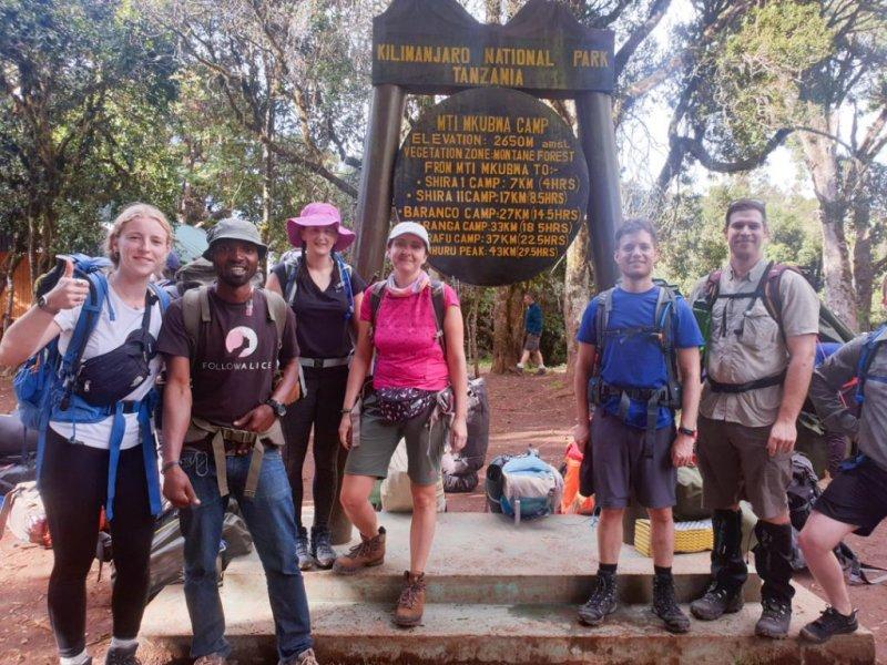 Group photo at the start of Kilimanjaro climb