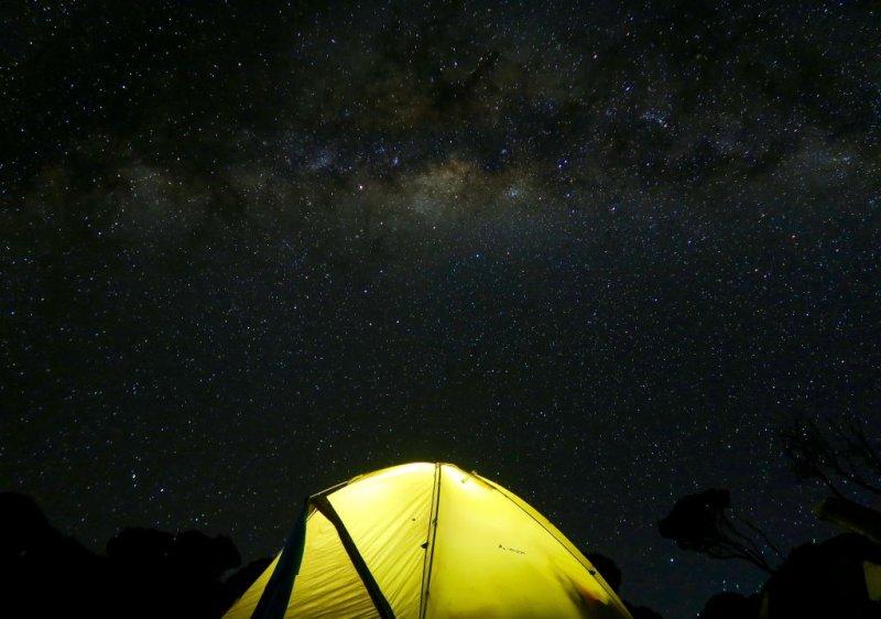 tent Kilimanjaro night sleep