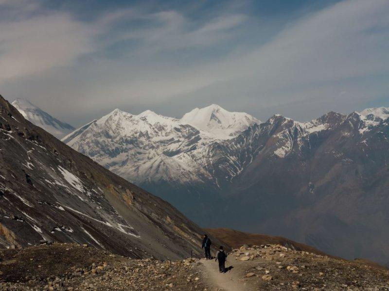 High altitude adventure trekking in the Annapurna region